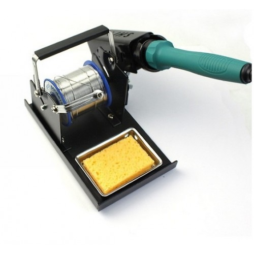 Solder Iron Stand With Soldering Iron Reel Wire Holder