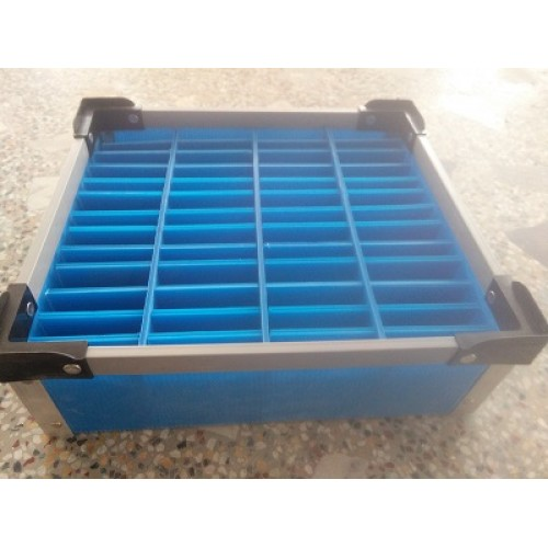 Plastic Corrugated Bin with 52 partitions