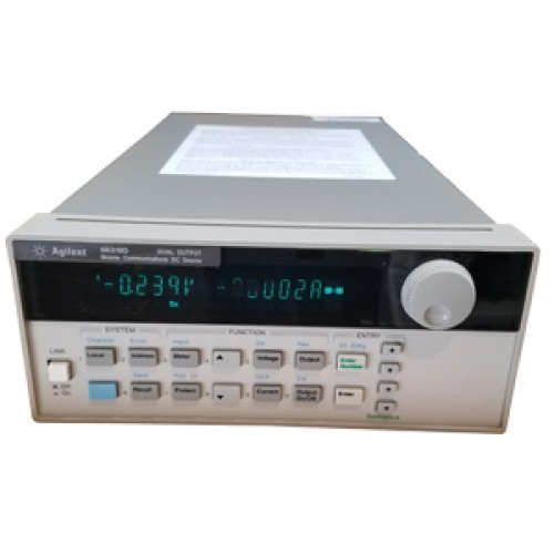 AGILENT 66319D DUAL MOBILE COMM DC SOURCE W/ BATTERY EMULATION, DVM